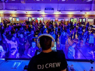 large dance party