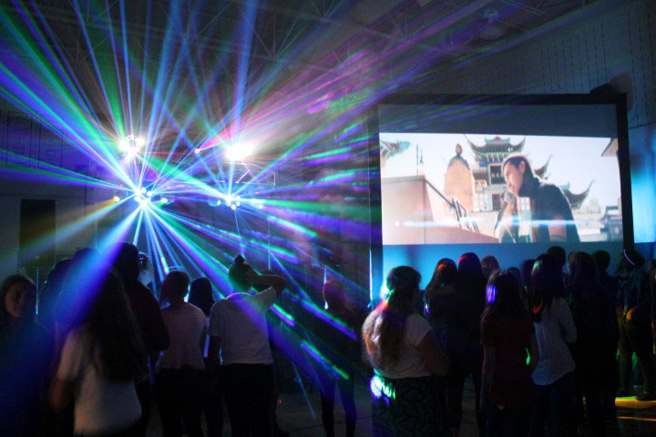 School Dance Lighting and Video