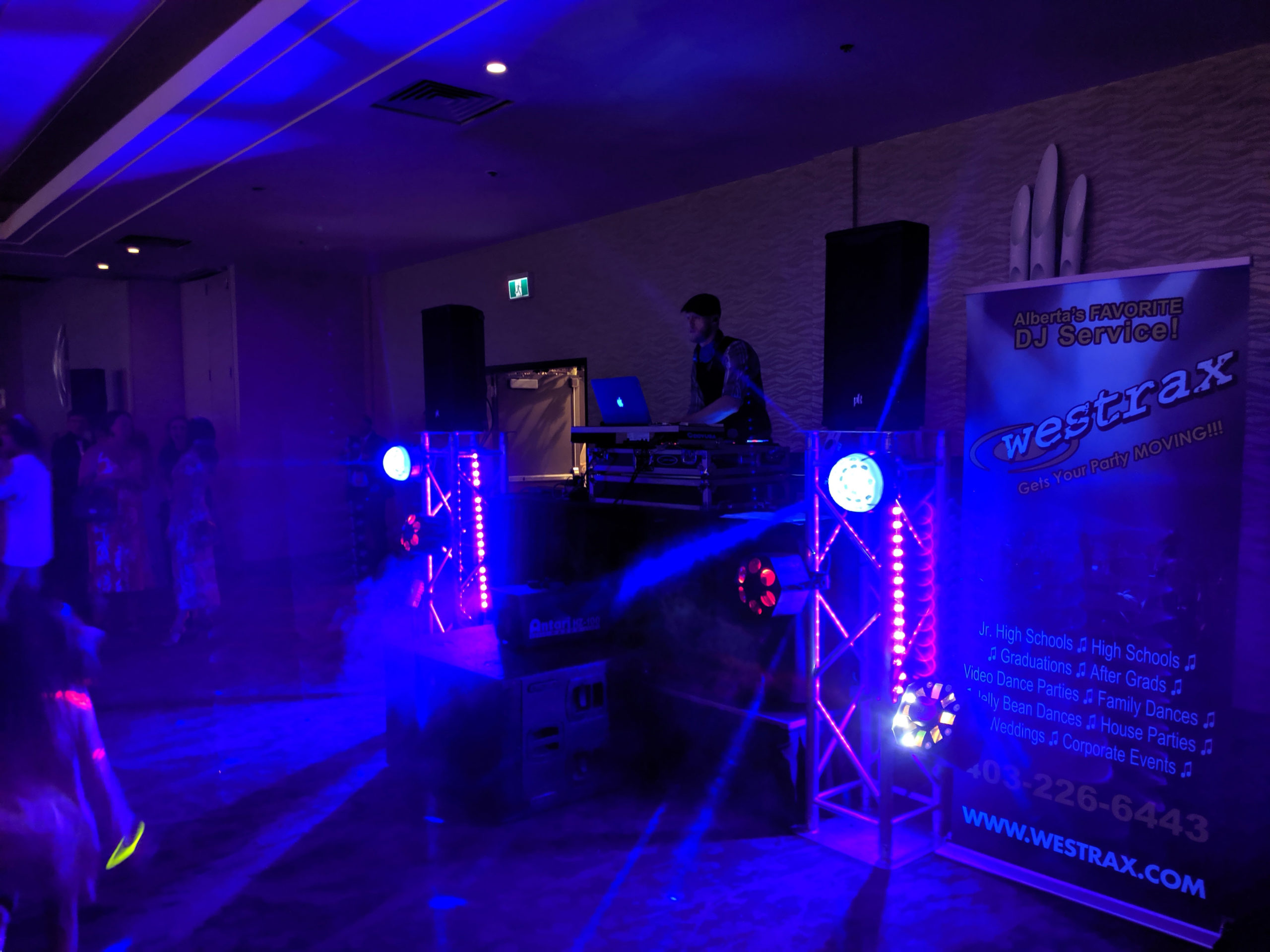 Corporate Event Lighting and DJ Booth